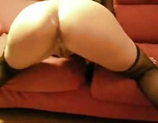 Husband gives hard anal fuck for his sexy wife in stockings