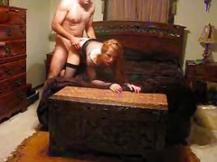 Amateur couple doing home porn clip before webcam