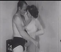 Beautiful vintage girls take turns riding his dick and he fucks them both so well